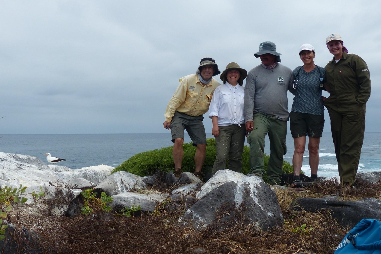 Team Nazca with a Nazca booby!